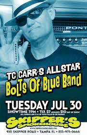 T.C. Carr and Bolts of Blue Band at Skipper's Smokehouse July 30, 2013
