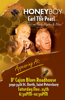 Honeyboy and Earl at D'Cajun Blues Roadhouse