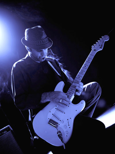 blues guitarist on stage